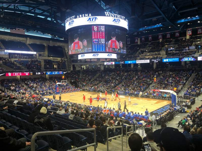 Seating view for Wintrust Arena Section 105 Row R Seat 2