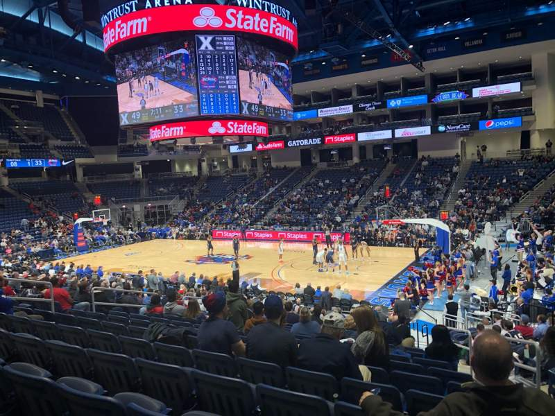 Seating view for Wintrust Arena Section 122 Row P Seat 3