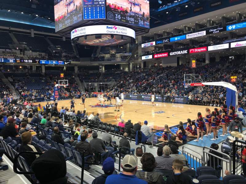 Seating view for Wintrust Arena Section 121 Row D Seat 6