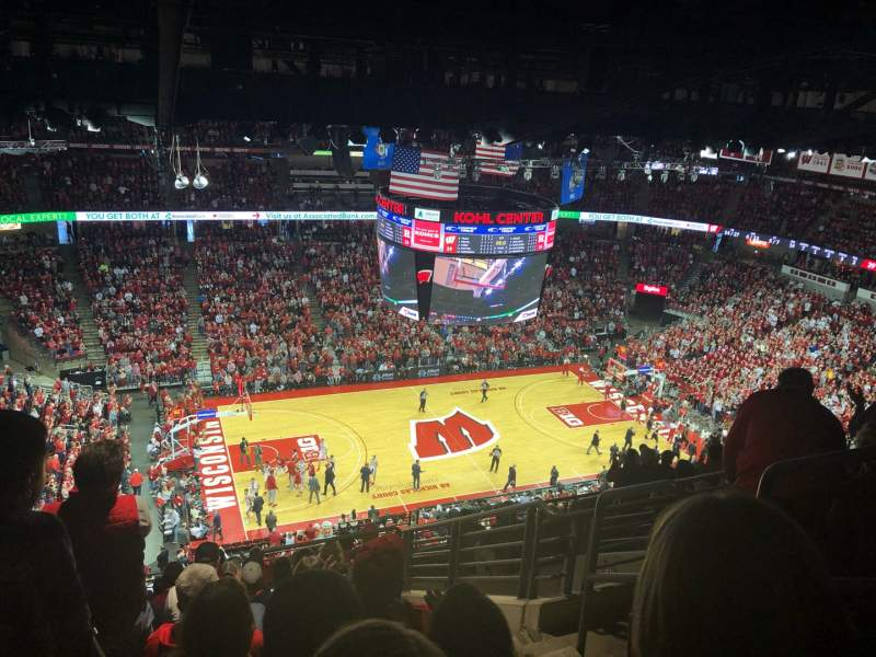 Seating view for Kohl Center Section 324 Row L Seat 6