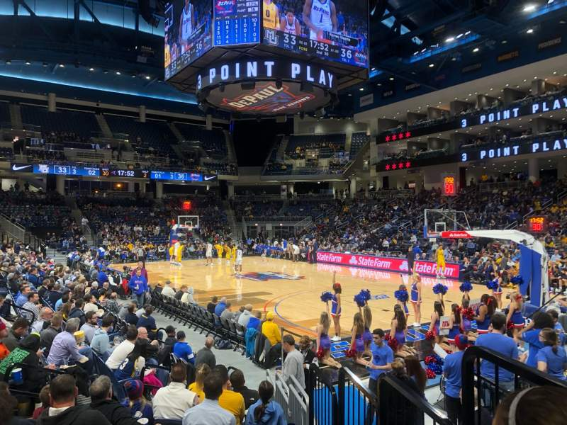 Seating view for Wintrust Arena Section 121 Row D Seat 2
