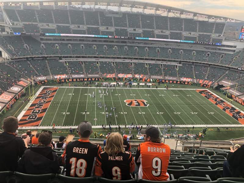 Seating view for Paul Brown Stadium Section 342 Row 25 Seat 6