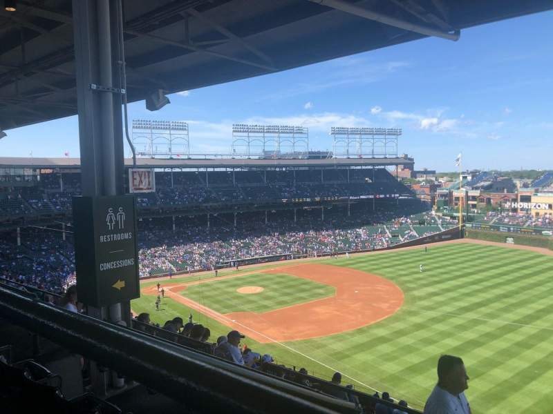 Seating view for Wrigley Field Section 430R Row 3 Seat 10