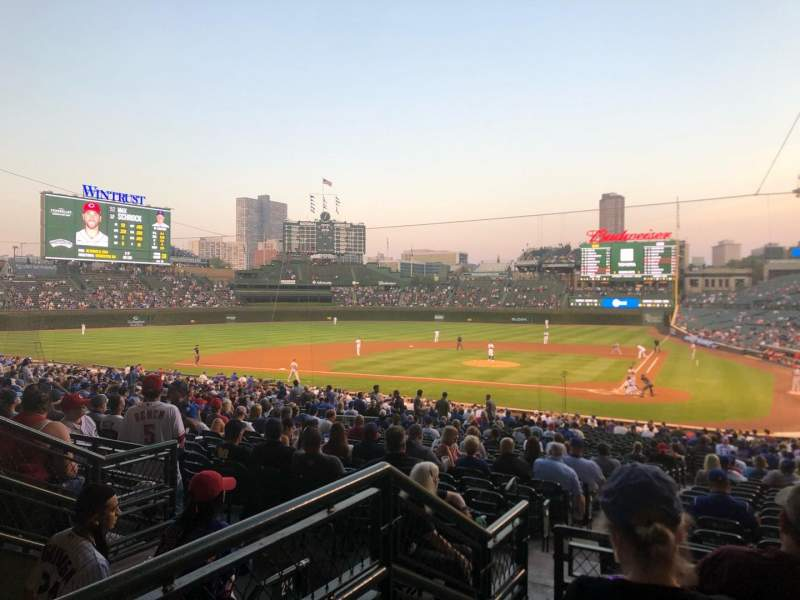 Seating view for Wrigley Field Section 214 Row 4 Seat 14