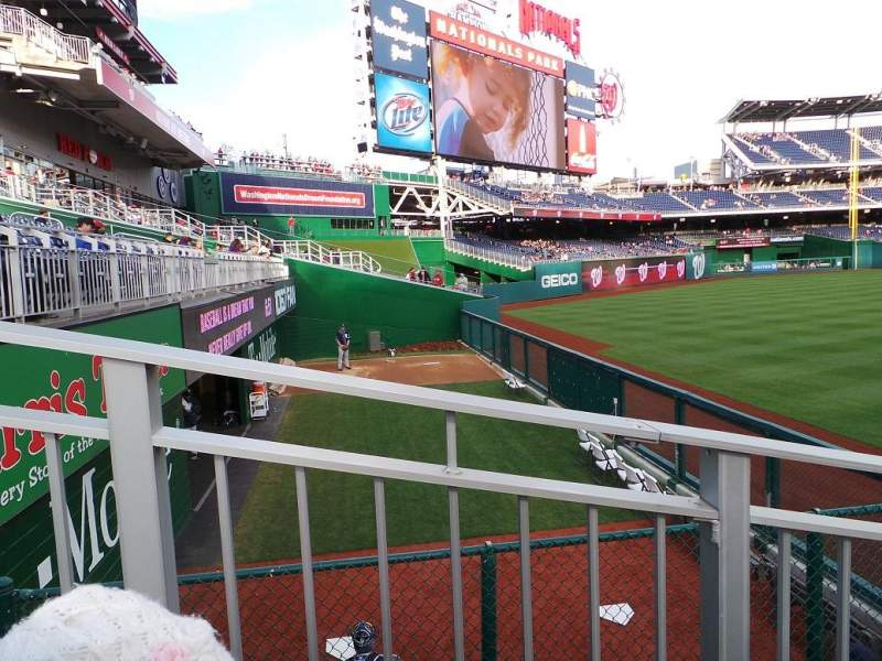 Seating view for Nationals Park Section 103 Row G Seat 10