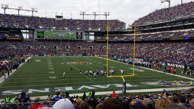 Seating view for M&T Bank Stadium Section 114 Row 27 Seat 10