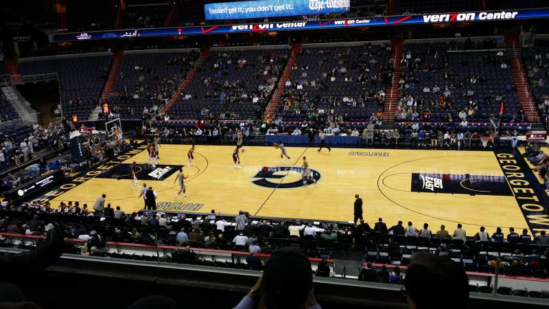 Seating view for Verizon Center Section 201 Row C Seat 6