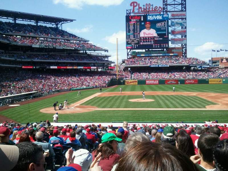 Seating view for Citizens Bank Park Section 117 Row 26 Seat 17