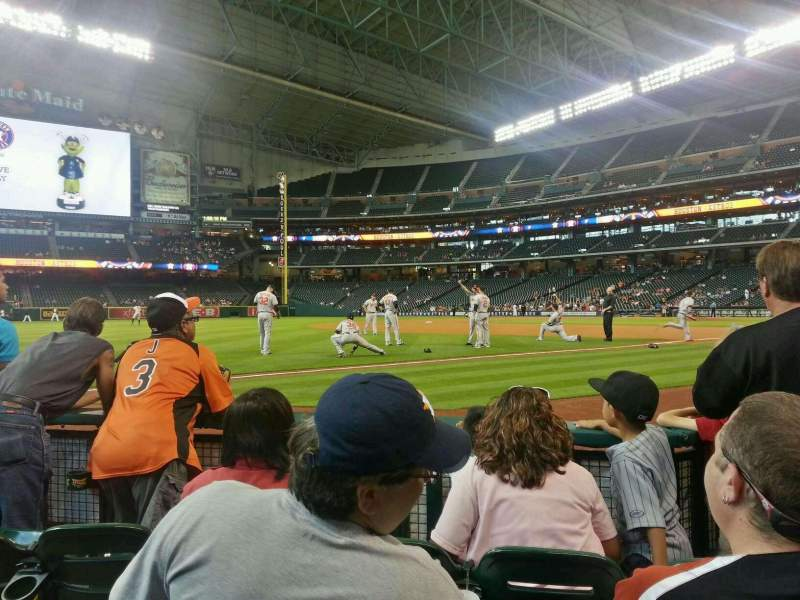 Seating view for Minute Maid Park Section 107 Row 4