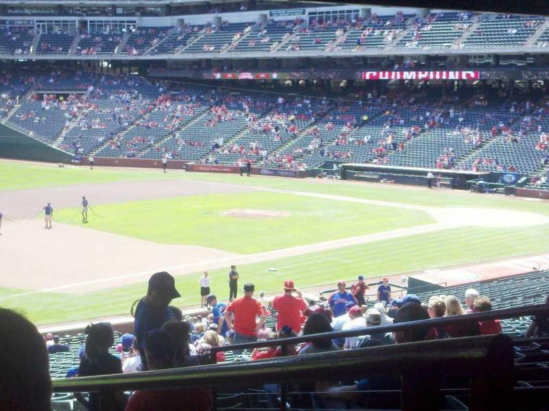 Seating view for Globe Life Park in Arlington Section 116 Row 38 Seat 6