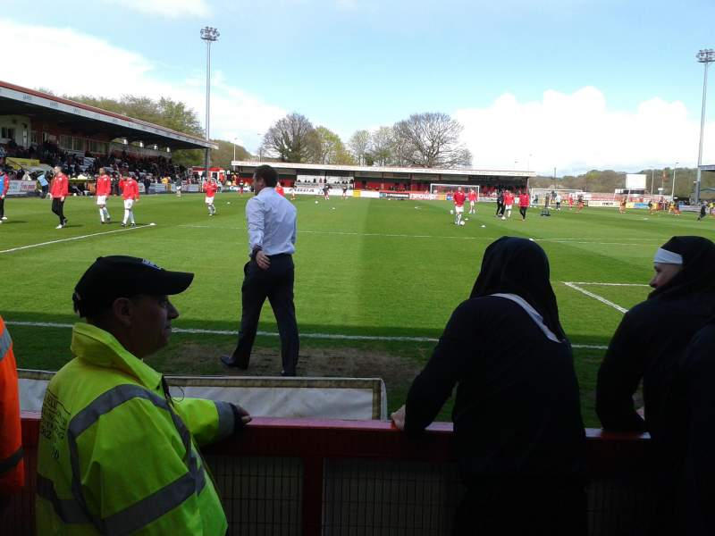 Seating view for Broadhall Way Section South Stand Row B