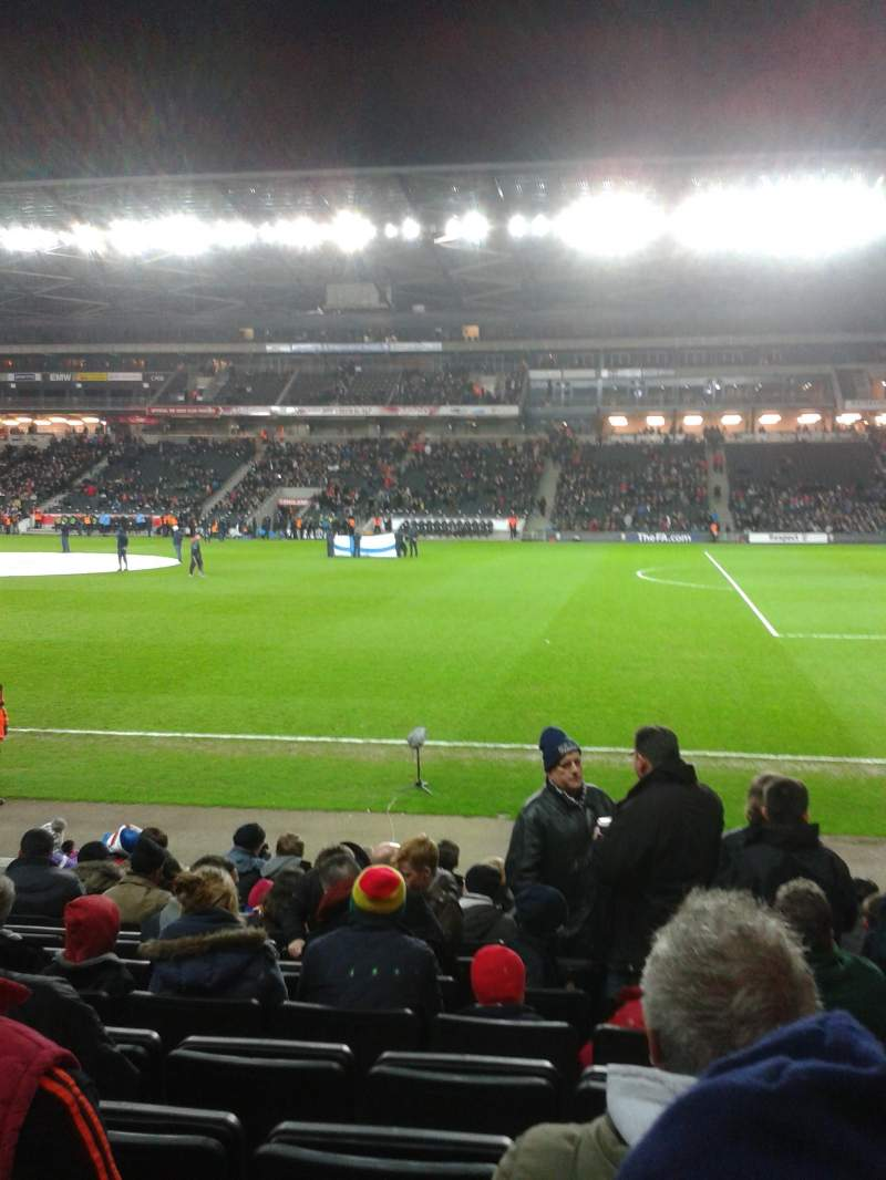 Seating view for Stadium:mk Section 1 Row l Seat 36