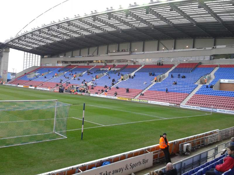 Seating view for DW Stadium Section North Stand