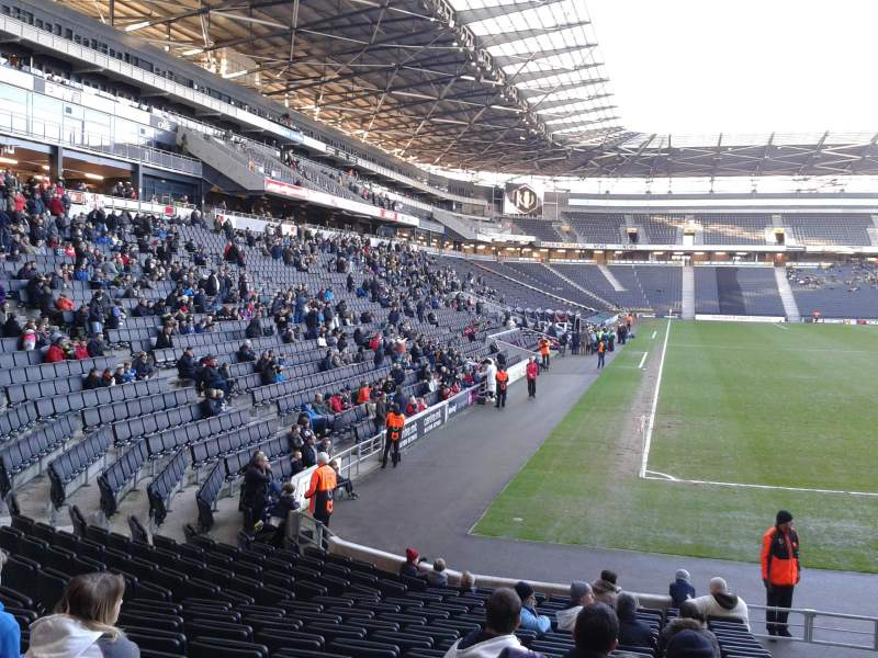 Seating view for Stadium:mk Section 15 Row S Seat 447