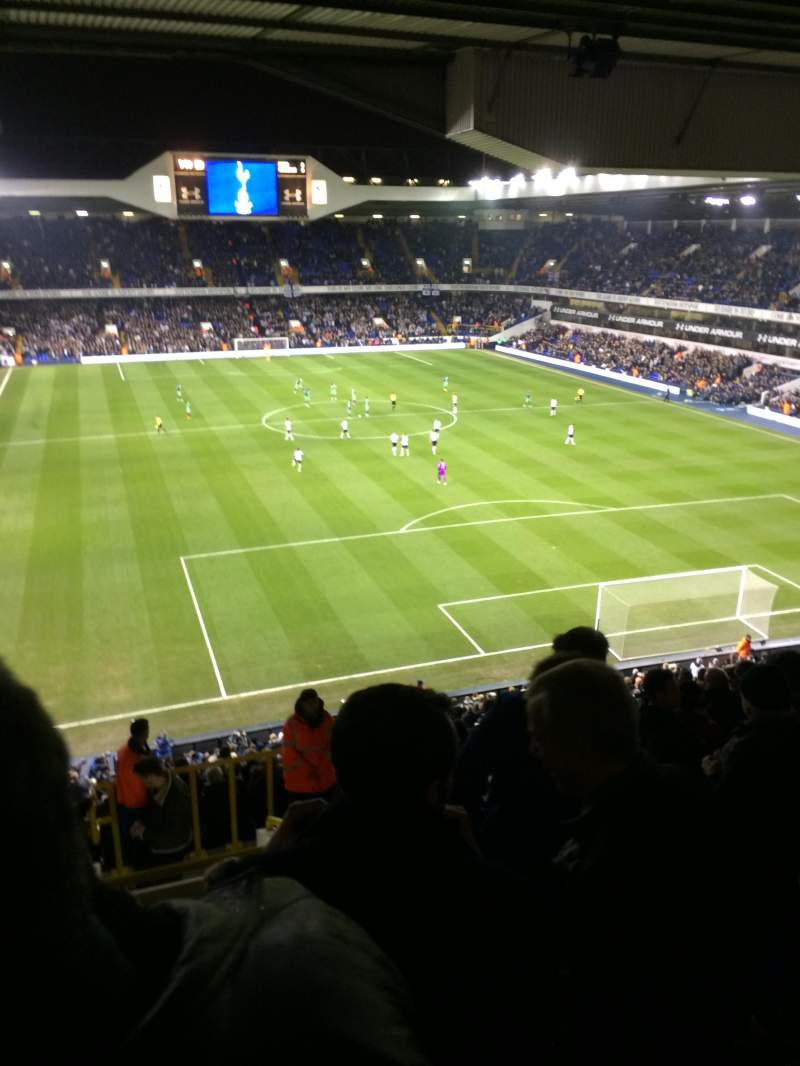 Seating view for White Hart Lane Section 55 Row 17 Seat 214