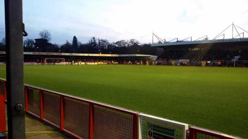 Seating view for Broadfield Stadium Section East Stand