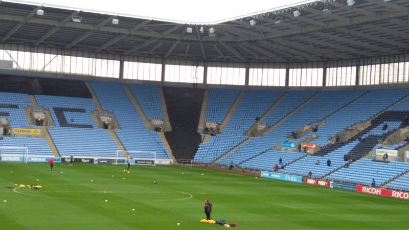 Seating view for Ricoh Arena Section 8 Row T Seat 22