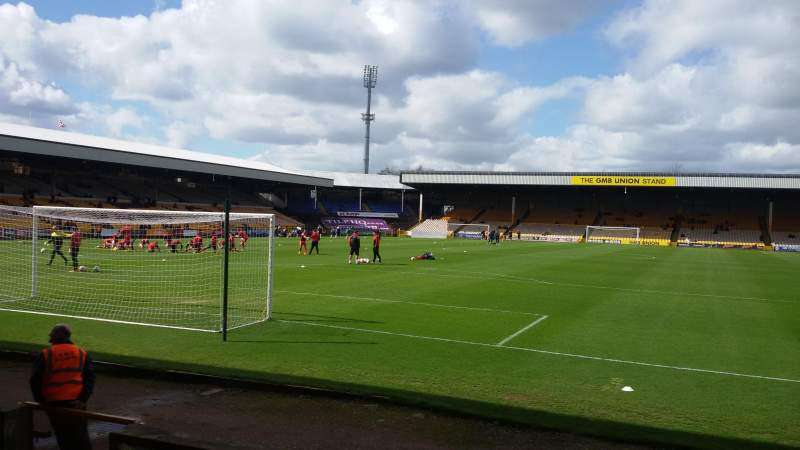 Seating view for Vale Park Section Hamil Road Stand