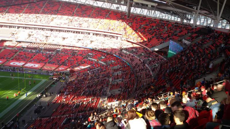 Seating view for Wembley Stadium Section A