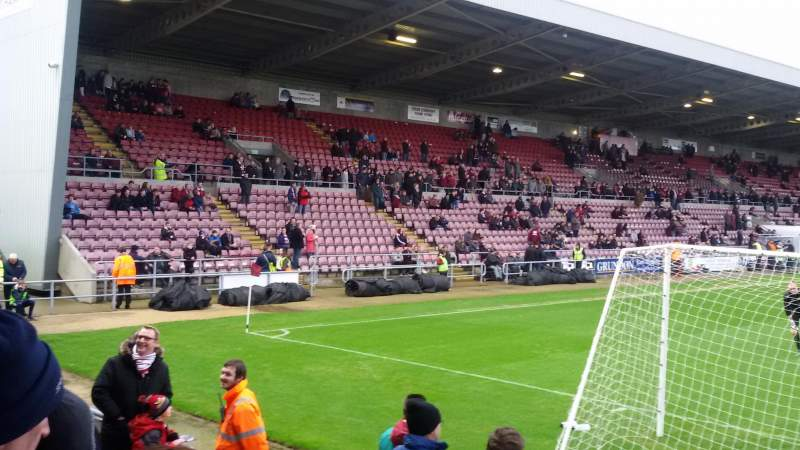Seating view for Sixfields Stadium Section South Stand