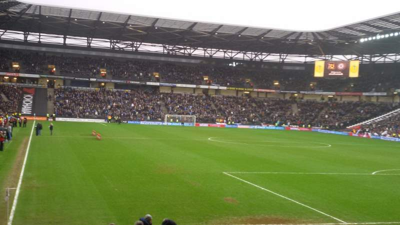 Seating view for Stadium:mk Section Aisle 15 Row S Seat 449