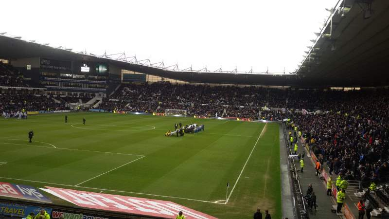 Seating view for Pride Park Section South East Corner