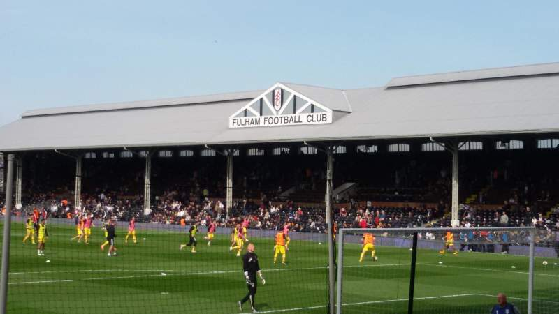 Seating view for Craven Cottage Section Putney End Row N