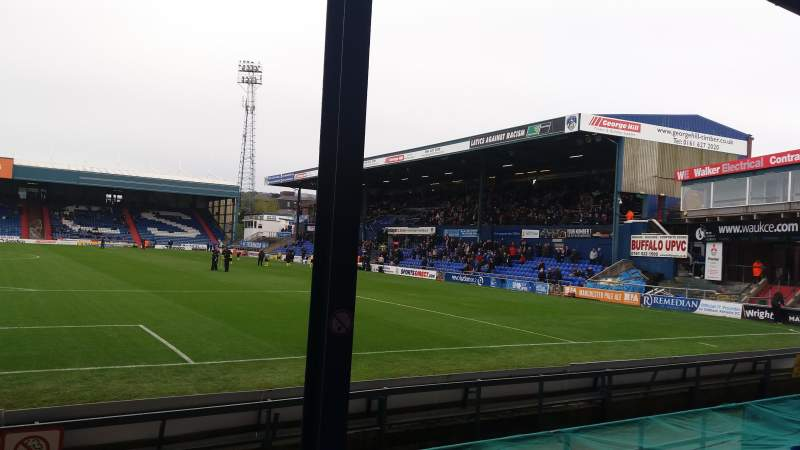 Seating view for Boundary Park Section Chaddy End Row D Seat 75