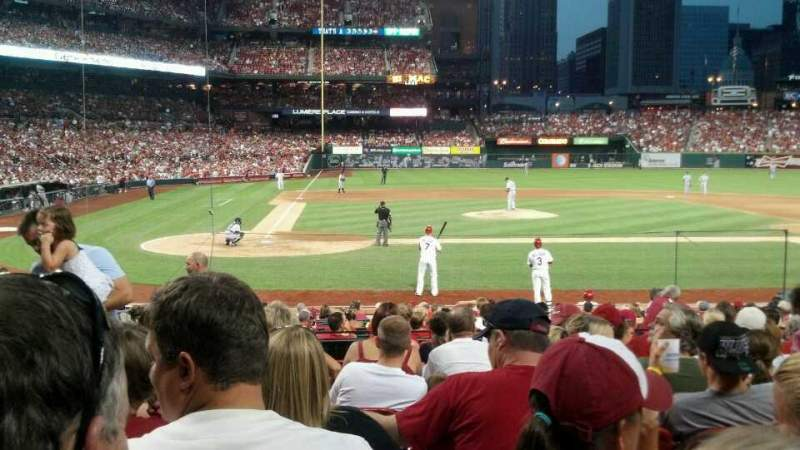Seating view for Busch Stadium Section 146 Row 10 Seat 3 and4