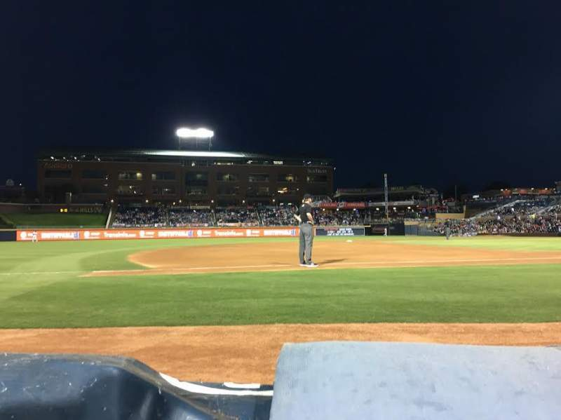 Seating view for Durham Bulls Athletic Park Section 113 Row A Seat 11 and 12