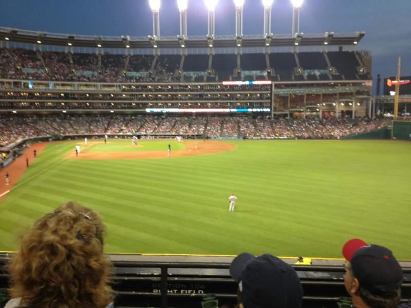 Progressive Field, section: 309, row: C, seat: 22
