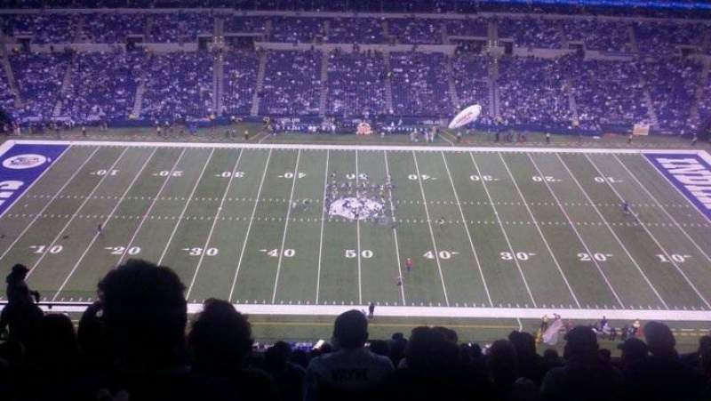Seating view for Lucas Oil Stadium Section 640 Row 14 Seat 15