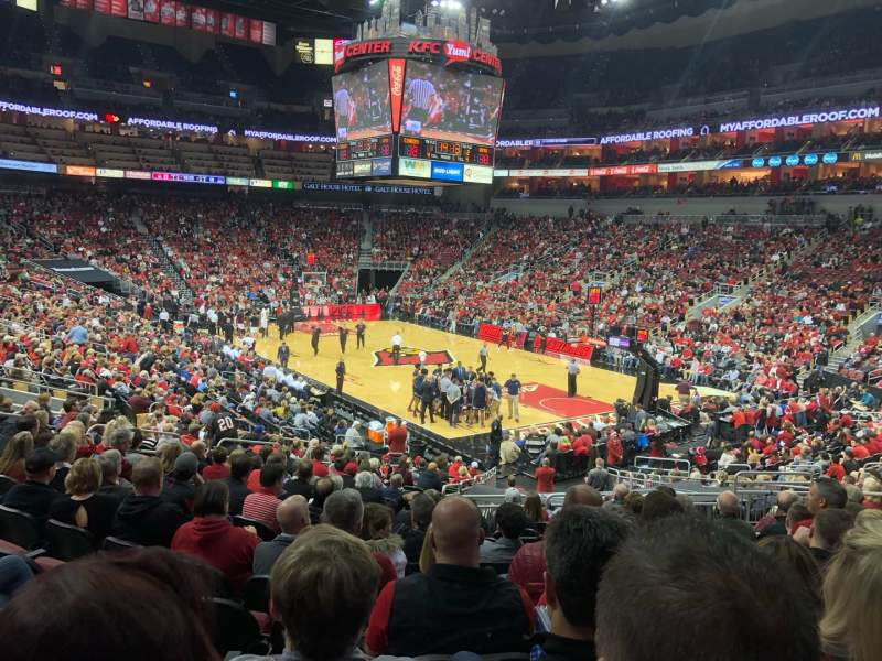 Seating view for KFC Yum! Center Section 113 Row Y Seat 10