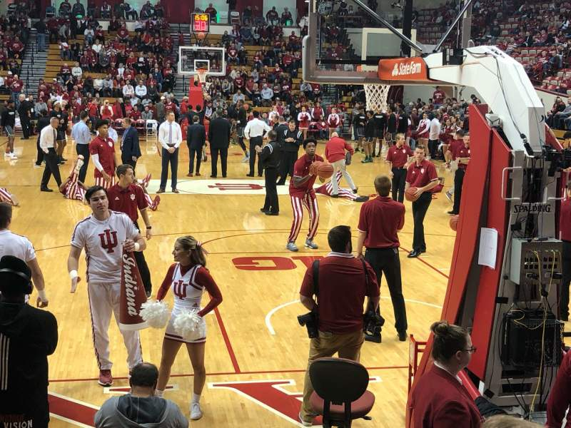 Seating view for Assembly Hall (Bloomington) Section 1 Row 7 Seat 104