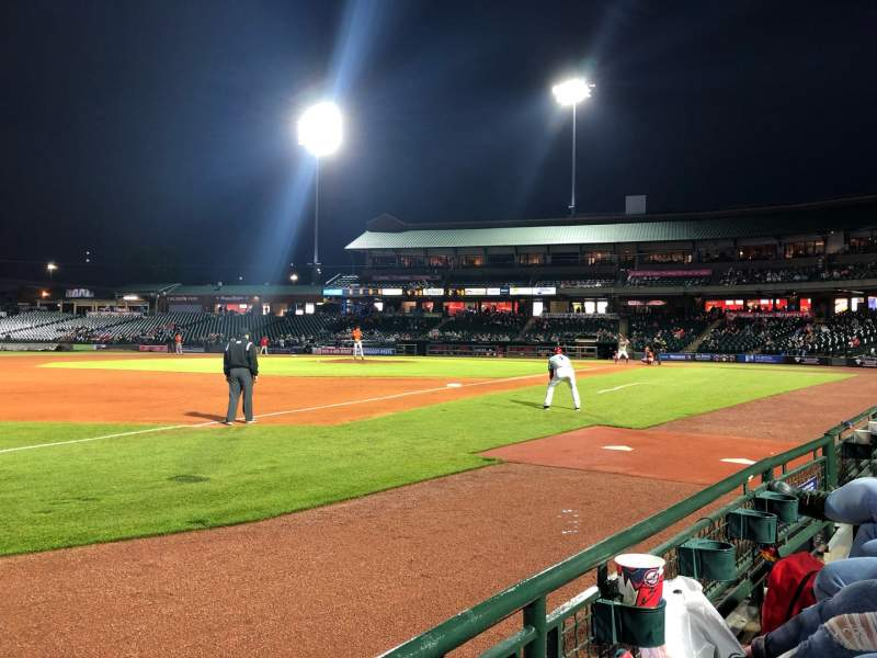 Seating view for Louisville Slugger Field Section 123 Row A Seat 7