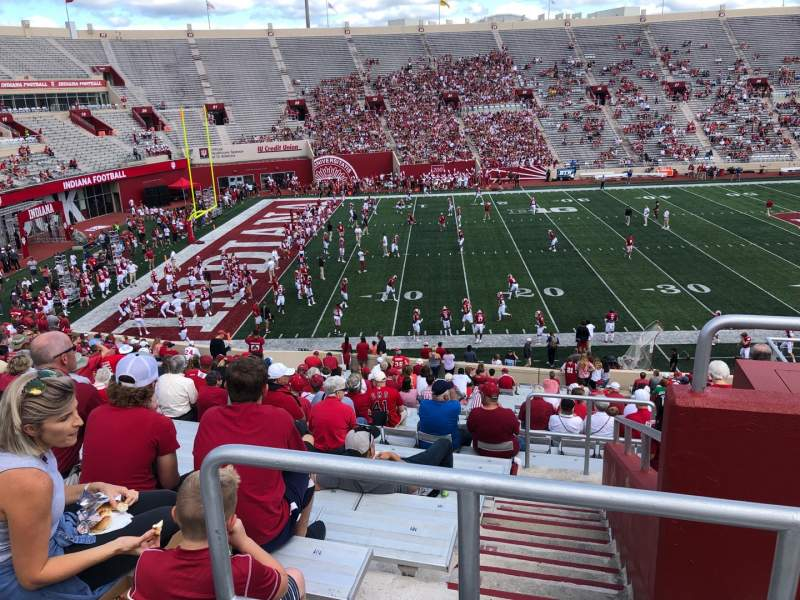 Seating view for Memorial Stadium (Indiana) Section 9 Row 41 Seat 103