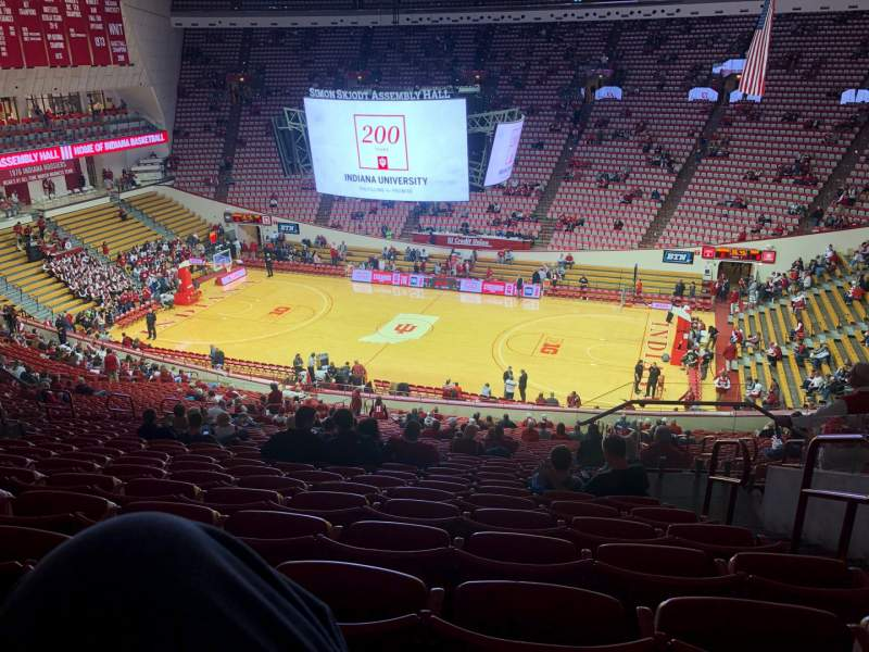 Seating view for Simon Skjodt Assembly Hall Section H Row 34 Seat 9
