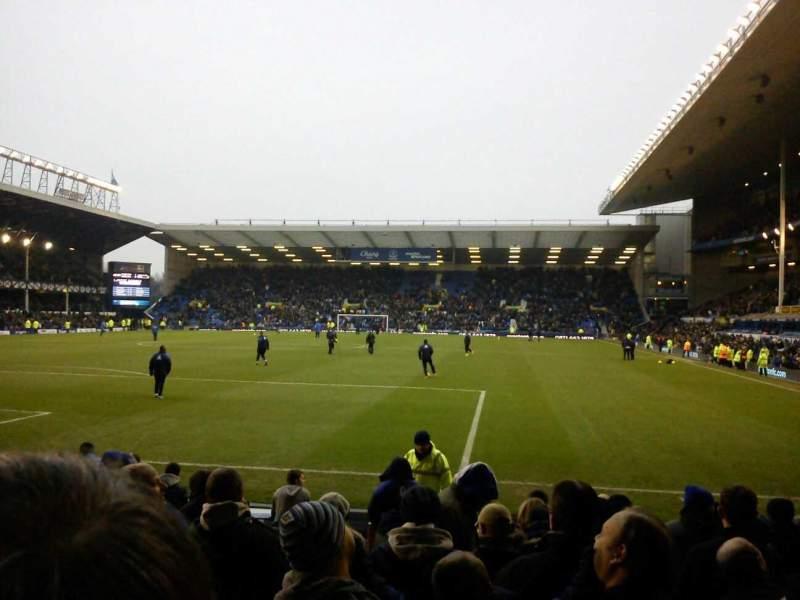 Seating view for Goodison Park Section gwladys Row n Seat 62