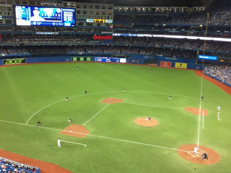 Seating view for Rogers Centre Section 527R Row 1 Seat 1