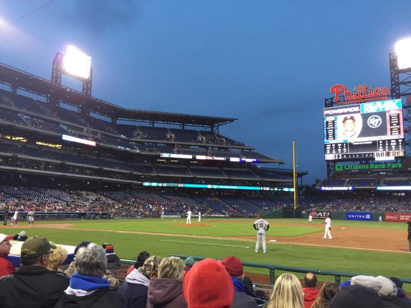 Seating view for Citizens Bank Park Section 115 Row 8 Seat 9