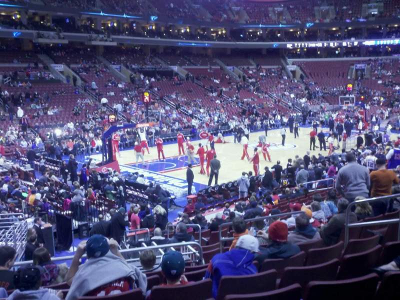 Seating view for Wells Fargo Center Section 122 Row 17 Seat 10