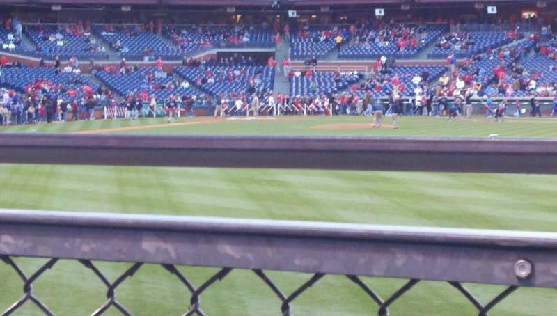 Seating view for Citizens Bank Park Section 103 Row 2 Seat 2