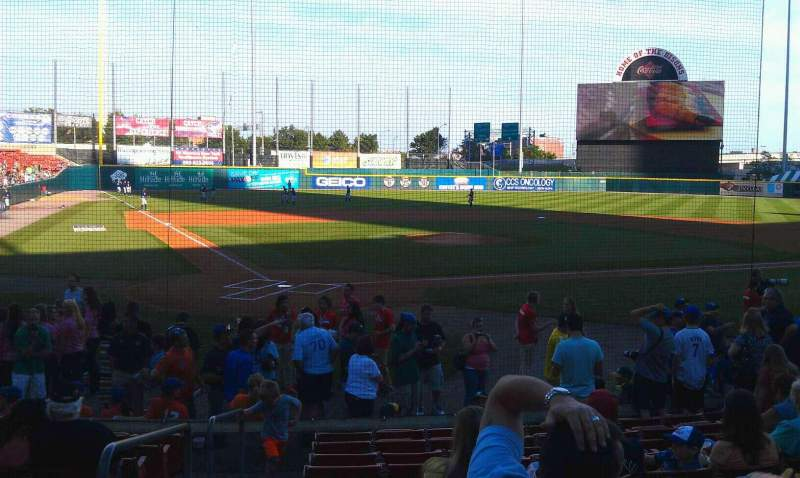 Seating view for Coca-Cola Field Section 106 Row k Seat 14