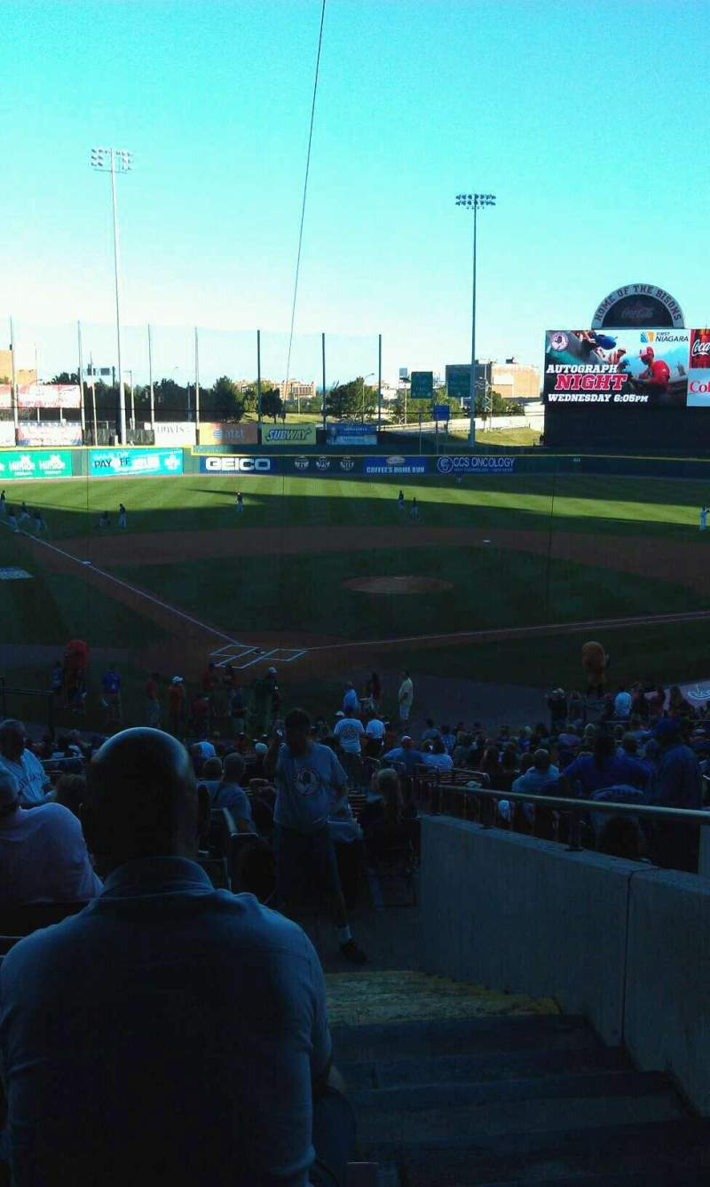 Seating view for Coca-Cola Field Section 104 Row jj Seat 1