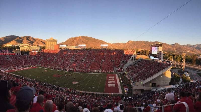 Seating view for Rice-Eccles Stadium Section W9 Row 55 Seat 26