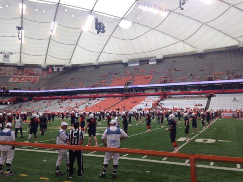 Seating view for Carrier Dome Section 113 Row A Seat 114