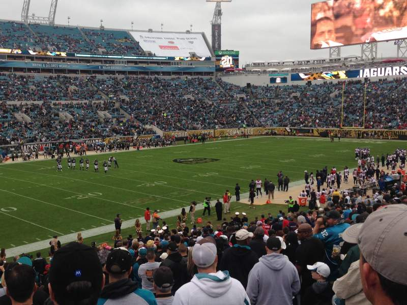 Seating view for EverBank Field Section 142
