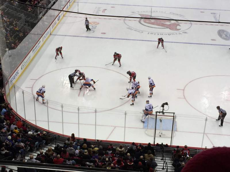 Seating view for Prudential Center Section 104 Row 2