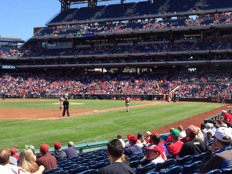 Seating view for Citizens Bank Park Section 136 Row 13