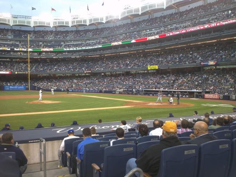 Seating view for Yankee Stadium Section 124 Row 1